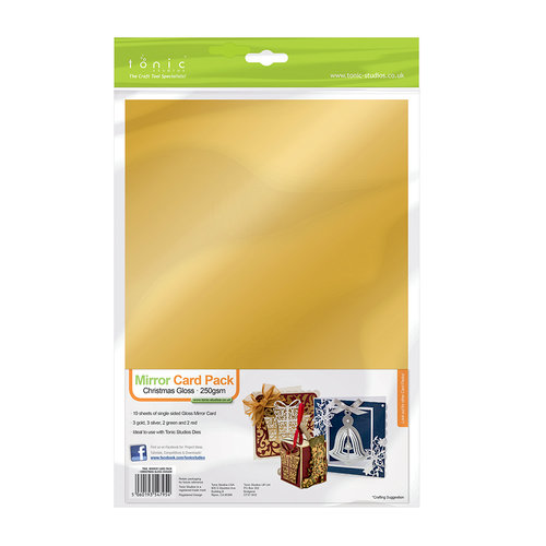 Tonic Studios - Mirror Card Paper Pack - Christmas Gloss