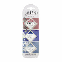 Nuvo - Blue Blossom Collection - Diamond Hybrid Ink Pads - Blue Blossom