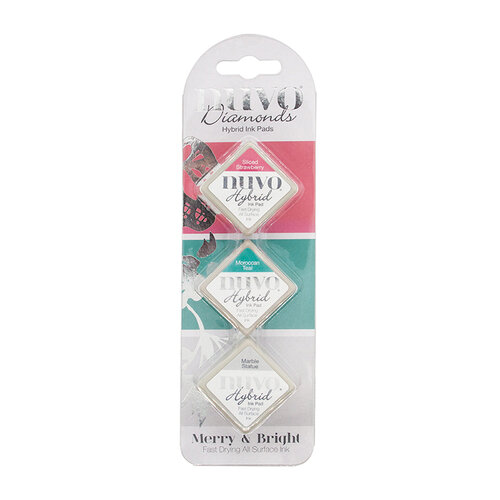 Nuvo - Merry and Bright Collection - Diamond Hybrid Ink Pads - Merry & Bright