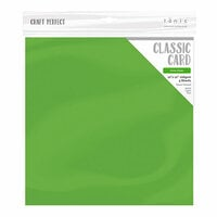 Tonic Studios - Woodland Walk Collection - Craft Perfect - Weave Textured Classic Card - 12 x 12 - Grass Green - 5 Pack