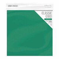 Tonic Studios - Merry and Bright Collection - Craft Perfect - Weave Textured Classic Card - 12 x 12 - Spearmint Green - 5 Pack