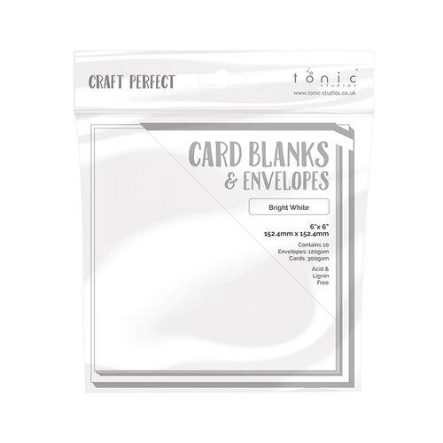 Tonic Studios - Craft Perfect - Card Blanks - Bright White - 6 x 6