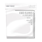 Tonic Studios - Craft Perfect - Card Blanks - Bright White - 7 x 7