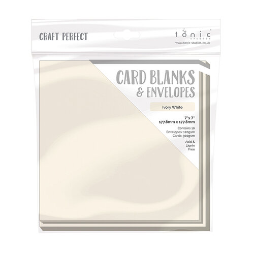 Tonic Studios - Craft Perfect - Card Blanks - Ivory White - 7 x 7