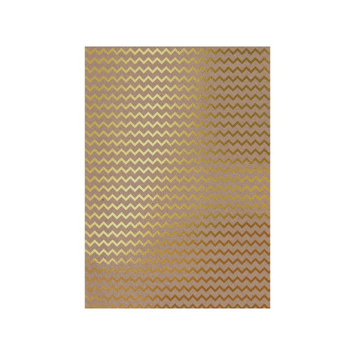Tonic Studios - Craft Perfect - Foiled Kraft Card - A4 - Golden Zigzag - 5 Pack