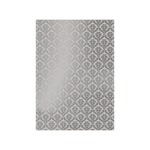 Tonic Studios - Craft Perfect - Foiled Kraft Card - A4 - Silver Damask - 5 Pack