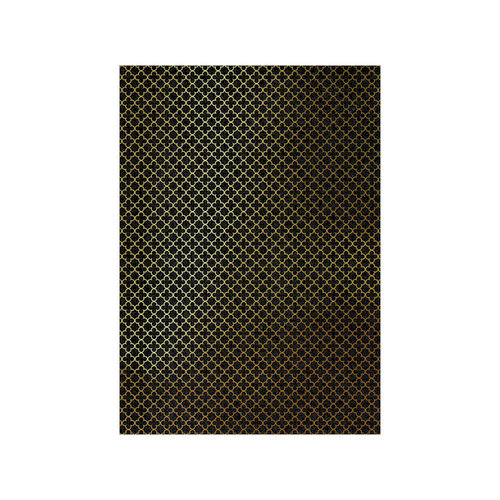 Tonic Studios - Craft Perfect - Foiled Kraft Card - A4 - Golden Quatrefoil - 5 Pack