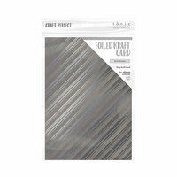 Tonic Studios - Merry and Bright Collection - Craft Perfect - Foiled Kraft Card - A4 - Silver Strokes - 5 Pack