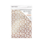 Tonic Studios - Blue Blossom Collection - Craft Perfect - Foiled Kraft Card - A4 - Rose Gold Posies - 5 Pack