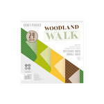 Tonic Studios - Woodland Walk Collection - Craft Perfect - Luxury Embossed Card - Woodland Walk - 6 x 6 Paper Pack - 24 sheets