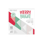 Tonic Studios - Merry and Bright Collection - Craft Perfect - Luxury Embossed Card - Merry & Bright - 6 x 6 Paper Pack