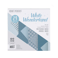 Tonic Studios - White Wonderland Collection - Craft Perfect - 6 x 6 Patterned Paper Pad