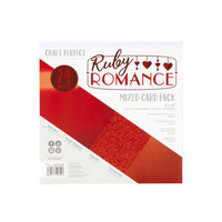 Tonic Studios - Craft Perfect - 6 x 6 Mixed Solids Card Pack - Ruby Romance