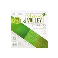 Tonic Studios - Craft Perfect - 6 x 6 Mixed Solids Card Pack - Green Valley