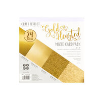 Tonic Studios - Craft Perfect - 6 x 6 Mixed Solids Card Pack - Gold Hearted