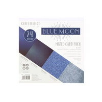 Tonic Studios - Craft Perfect - 6 x 6 Mixed Solids Card Pack - Blue Moon