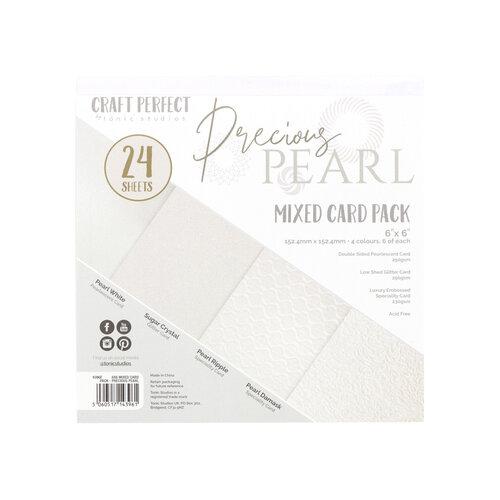 Tonic Studios - Craft Perfect - 6 x 6 Mixed Solids Card Pack - Precious Pearl