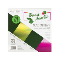 Tonic Studios - Tropical Paradise Collection - Craft Perfect - 6 x 6 Mixed Solids Card Pack