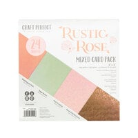 Tonic Studios - Rustic Rose Collection - Craft Perfect - 6 x 6 Mixed Solids Card Pack