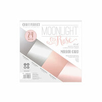 Tonic Studios - Craft Perfect - Mirror Card - 6 x 6 - Moonlight Rose - 24 Sheets