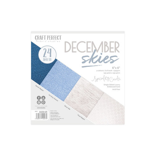 Tonic Studios - Craft Perfect - Specialty Card with Embossed Accents - 6 x 6 - December Skies