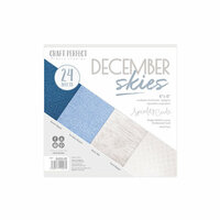 Tonic Studios - Craft Perfect - Specialty Card with Embossed Accents - 6 x 6 - December Skies - 24 Sheets