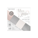 Tonic Studios - Craft Perfect - Foiled Kraft Card - 6 x 6 - Silver Jubilee