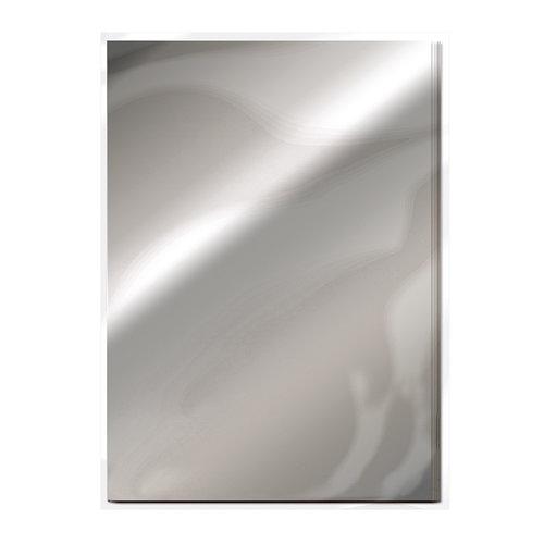 Tonic Studios - 8.5 x 11 Cardstock - Mirror Card - Gloss - Chrome Silver - 5 Pack