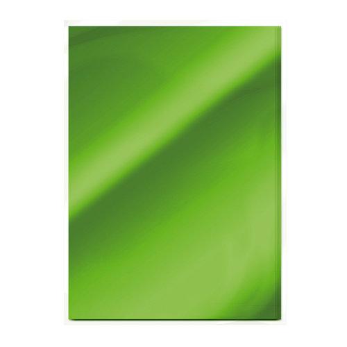 Tonic Studios - 8.5 x 11 Cardstock - Mirror Card - Gloss - Emerald Green - 5 Pack