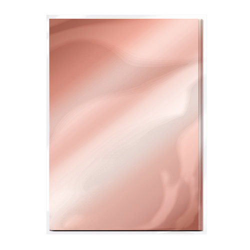 Tonic Studios - 8.5 x 11 Cardstock - Mirror Card - Gloss - Rose Platinum - 5 Pack