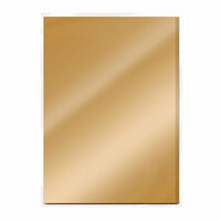 Tonic Studios - 8.5 x 11 Cardstock - Mirror Card - Gloss - Harvest Gold - 5 Pack