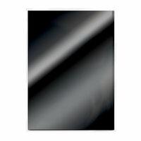Tonic Studios - 8.5 x 11 Cardstock - Mirror Card - Gloss - Black - 5 Pack