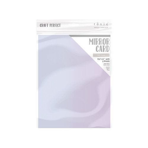 Tonic Studios - Dream In Colour Collection - Craft Perfect - Gloss Mirror Card - 8.5 x 11 - Holo Waves - 5 Pack
