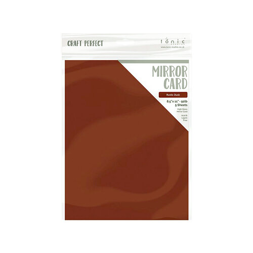 Tonic Studios - Woodland Walk Collection - Craft Perfect - Mirror Card - 8.5 x 11 - Rustic Dusk - 5 Pack