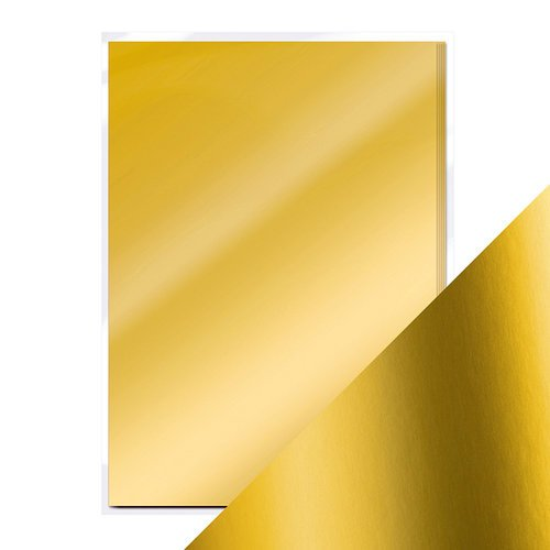Tonic Studios - 8.5 x 11 Cardstock - Mirror Card - Satin - Gold Pearl - 5 Pack