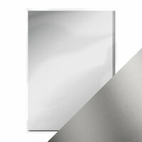 Tonic Studios - 8.5 x 11 Cardstock - Mirror Card - Satin - Frosted Silver - 5 Pack