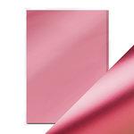 Tonic Studios - 8.5 x 11 Cardstock - Mirror Card - Satin - Pink Chiffon