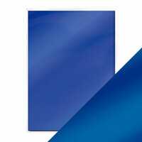 Tonic Studios - 8.5 x 11 Cardstock - Mirror Card - Satin - Cobalt Velour - 5 Pack