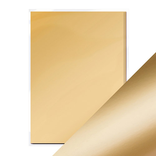 Tonic Studios - 8.5 x 11 Cardstock - Mirror Card - Satin - Honey Gold - 5 Pack