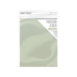 Tonic Studios - Dream In Colour Collection - Craft Perfect - Satin Mirror Card - 8.5 x 11 - Spring Silver - 5 Pack