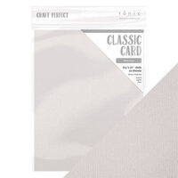 Tonic Studios - White Wonderland Collection - Craft Perfect - 8.5 x 11 Cardstock - Classic Card - Misty Grey