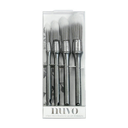 Nuvo - Stencil Brushes - 4 Pack