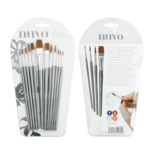Nuvo - Nylon Brushes - 12 Pack