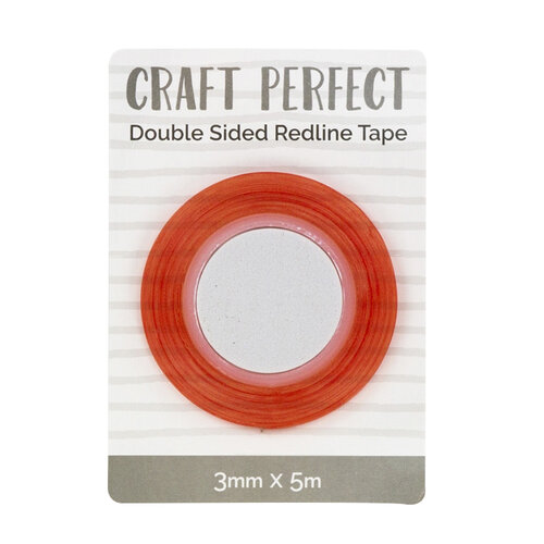 Tonic Studios - Craft Perfect - Adhesives - Double Sided Redline Tape - 3mm x 5m