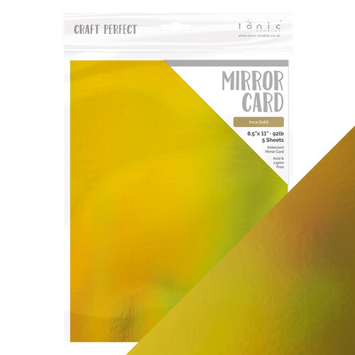 Tonic Studios - Tropical Paradise Collection - Craft Perfect - Mirror Card - 8.5 x 11 Paper - Inca Gold
