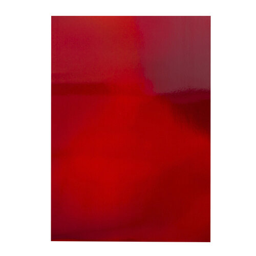 Tonic Studios - Craft Perfect - 8.5 x 11 Cardstock - Iridescent Mirror Card - Fire Stone Red - 5 Pack