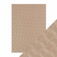 Tonic Studios - Hand Crafted Embossed Cotton Paper - A4 - Woven Hide - 5 Pack