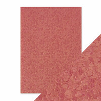 Tonic Studios - Hand Crafted Embossed Cotton Paper - A4 - Coral Confetti - 5 Pack