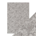 Tonic Studios - Hand Crafted Embossed Cotton Paper - A4 - Cascading Hearts