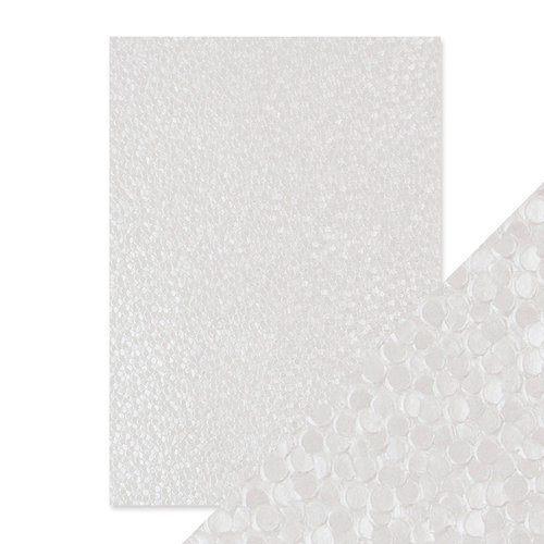 Tonic Studios - Hand Crafted Embossed Cotton Paper - A4 - Snowdrop Meadow - 5 Pack